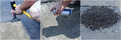 Instant pothole repair, asphalt repair, asphalt patch, instantasphalt repair